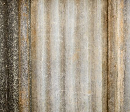 corrugated iron: Background texture of corrugated iron sheets with rust and wear