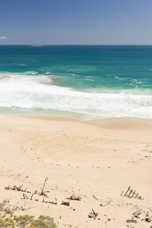yorke: Remains of a shipwreck on the sand of Ethel Beach, South Australia