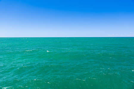 yorke: Seascape of clear aqua water and blue sky