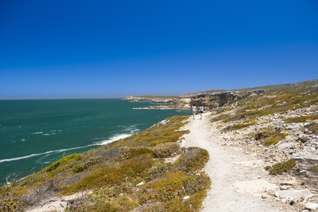 yorke: Views along the South Australian coastline on the Yorke Peninsula, with two women on walking trail