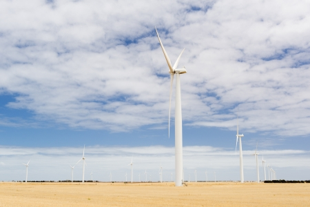 Wind turbines in a wind farm in rural Australia Stock Photo - 18000188
