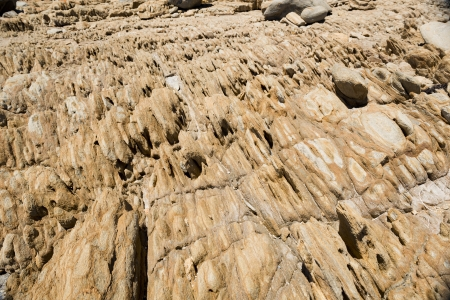 rock layers: Natural formations of shapes of rocks along the coast