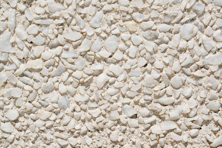 shards: Tiny shards of white stone form a wall Stock Photo