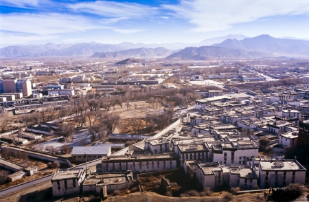 larger: Shigatse, one of the larger cities in Tibet