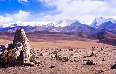 high plateau: Himalayan mountains viewed from the high plateau of Tibet