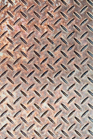 Detail of industrial grade checkerplate steel photo