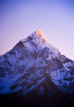 capped: Spectacular mountain scenery on the Mount Everest Base Camp trek through the Himalaya, Nepal