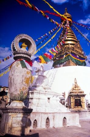 kathmandu: Gold shrine called a Stupa in Nepal