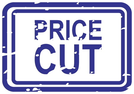 cut price: Blue rubber stamp for price cut business concept Illustration