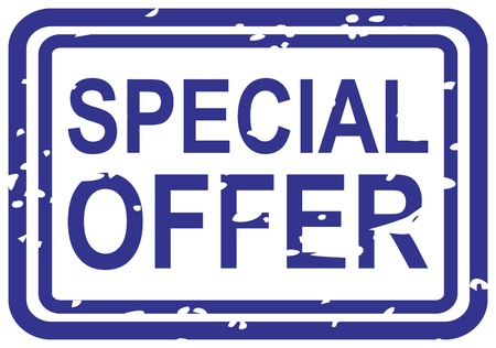 rubberstamp: Blue rubber stamp for special offer business concept