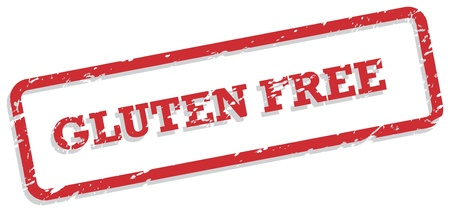 coeliac: Red rubber stamp  for gluten free food concept