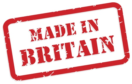 Red rubber stamp of Made In Britain Vector