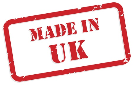 Red rubber stamp  of Made In UK Vector