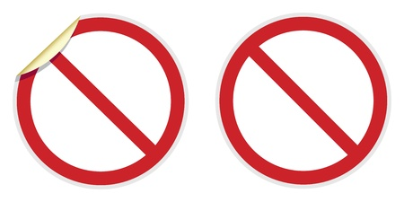 No signs in two vector styles depicting banned activities Vector