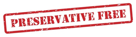 preservative: Preservative free red rubber stamp