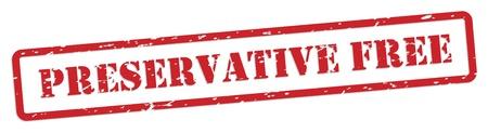 preservatives: Preservative free red rubber stamp