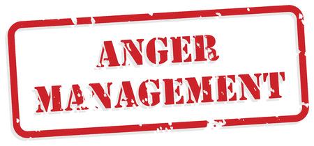 anger management: Anger management red rubber stamp vector for mental health concept