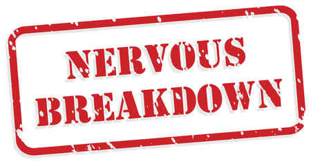 traumatic: Nervous breakdown red rubber stamp vector for mental health concept