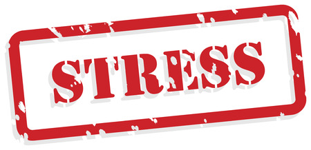 Stress red rubber stamp vector for mental health concept Vector