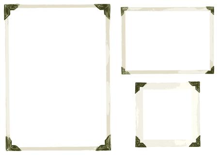 古い写真のコーナーのコレクション  イラスト・ベクター素材
