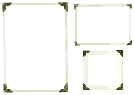 grunge photo frame: Raccolta di vecchie foto angoli Vettoriali