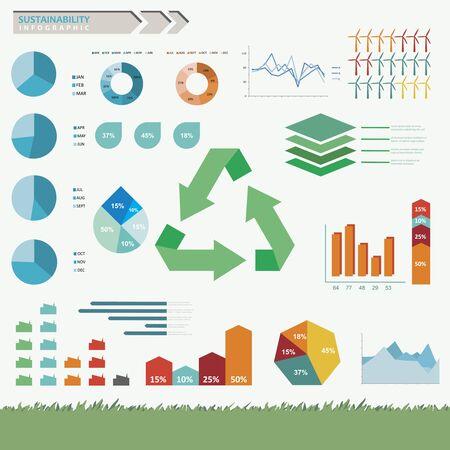 sostenibilit�: Sostenibilit� ed eco infografica amichevole