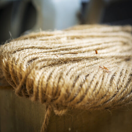 shallow focus: Twine in a bundle in extreme shallow focus Stock Photo