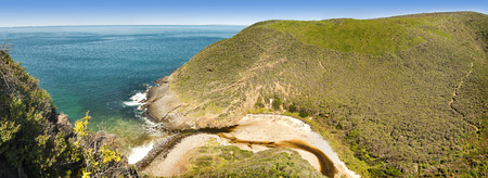 the deep south: Deep Creek Conservation Park on the Fleurieu Peninsula in South Australia in panoramic format