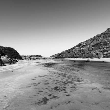 the deep south: Deep Creek Conservation Park on the Fleurieu Peninsula in South Australia in black and white Stock Photo