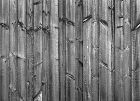 treated: New wood fence in treated pine panels in black and white