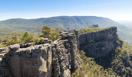 pinnacle: Vista dalla Pinnacle di Halls Gap nel parco nazionale Grampians, Victoria, Australia