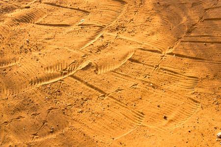 raked: Raked sand patterns in Botswana, Africa