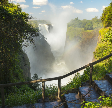 cataract falls: Victoria Falls Devils Cataract in Africa, between Zambia and Zimbabwe, one of the seven wonders of the world