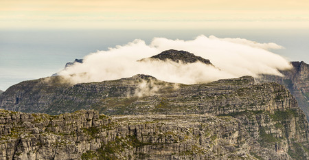 ridgeline: View of the Twelve Apostles from the top of Table Mountain in Cape Town, South Africa