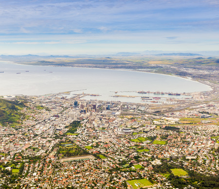 capetown: Aerial view of Cape Town in South Africa Stock Photo