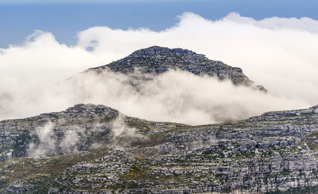 ridgeline: Rocky Summit of the Twelve Apostles in Cape Town, South Africa Stock Photo
