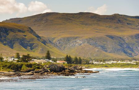 south africa: Rocky bayside town of Hermanus in South Africa