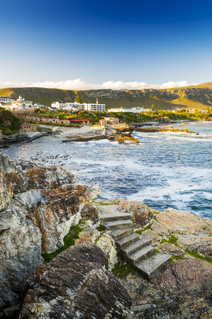Hermanus South Africa during whale watching season Stock Photo