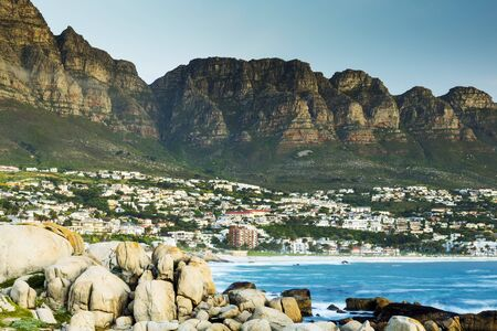 south africa: Camps Bay in Cape Town, South Africa