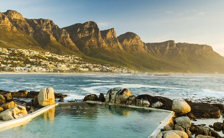 Twelve Apostles in South Africa at Sunset