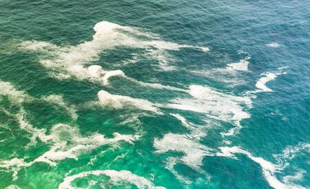 hues: Blue green hues of the South Atlantic Ocean off the coast of South Africa Stock Photo