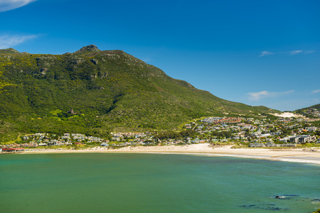 chapmans: Hout Bay beach coastline on the Cape Peninsula, South Africa Stock Photo
