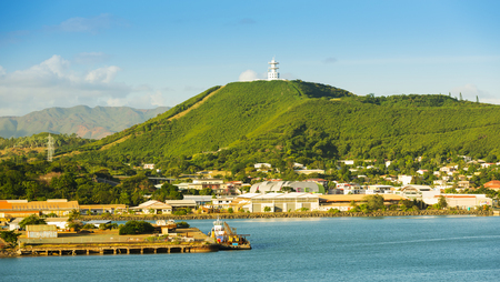 destination scenics: Noumea, capital of New Caledonia view from the bay