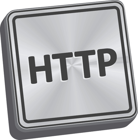 http: HTTP button 3D key in brushed metal