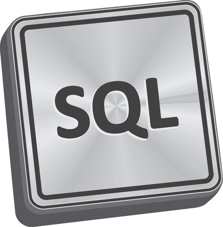 SQL button 3D key in brushed metal
