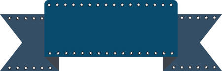 Klassisches Band für Banner kleine Sterne am Rand. Standard-Bild - 79410236