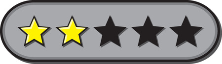 Star ratings vector for reviews with 2 stars rated