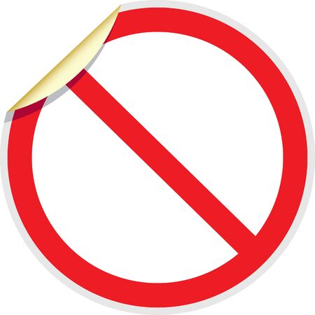 banned: Banned sign in vector depicting banned activities