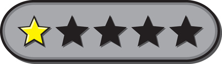 Star ratings vector for reviews with 1 star rated