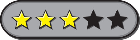 Star ratings vector for reviews with 3 stars rated